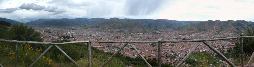 Vue panoramique Cuzco depuis Sacsayhuaman
