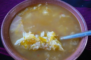 Soupe de quinoa Ile Amantani lac Titicaca