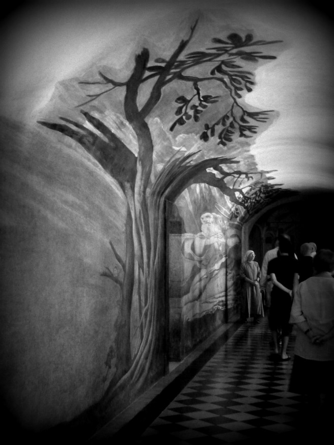Anamorphose Trinite des Monts Rome 1