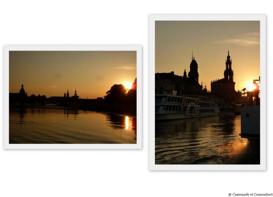 Coucher de soleil Dresde