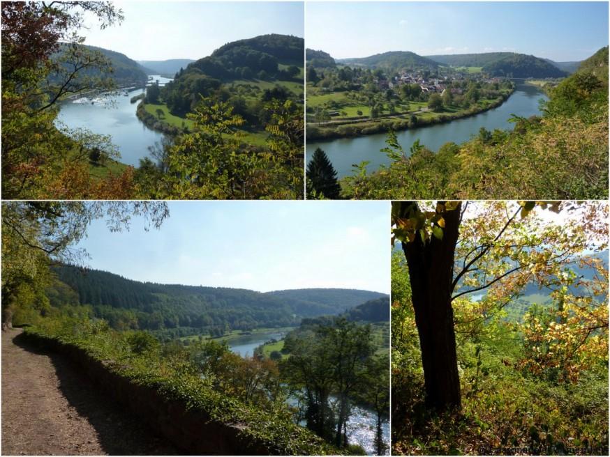 Neckargerach vue sur une boucle du Neckar