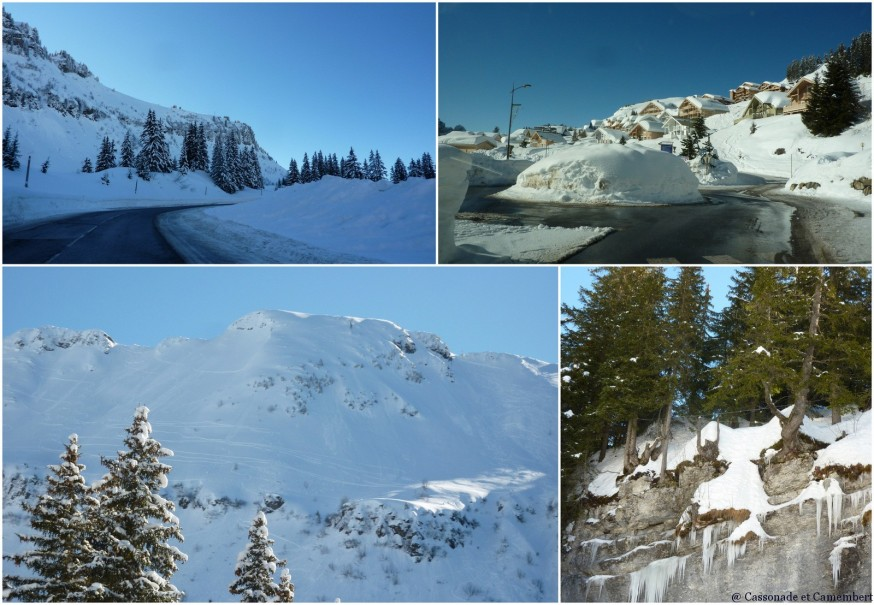 Route vers Flaine