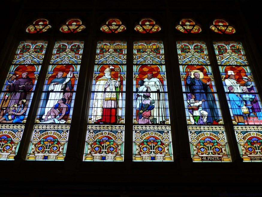 Vitrail vertus - St Vaast Béthune