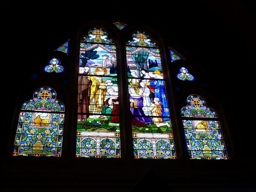 Vitrail bapteme de Clovis - St Vaast Béthune