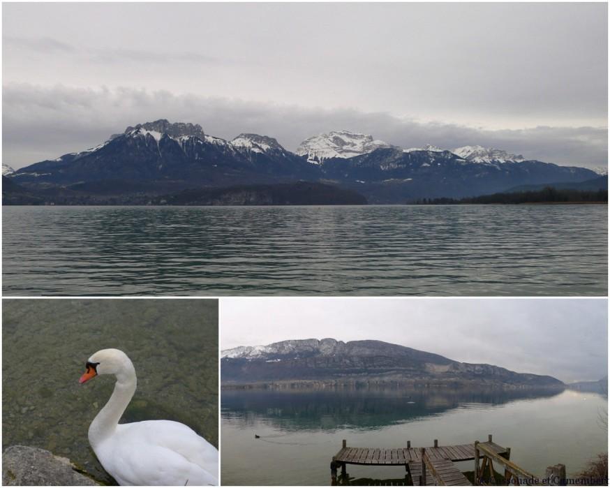 Lac d'Annecy en hiver