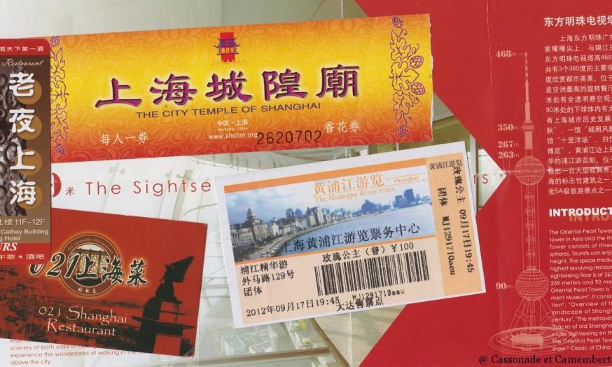 Billets d entree Shanghai