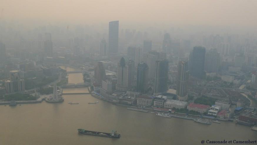 Vue depuis Oriental Pearl Tower gratte-ciel Shanghai