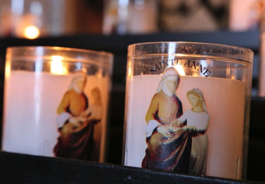 Bougies chapelle Ste-Anne du col des Aravis