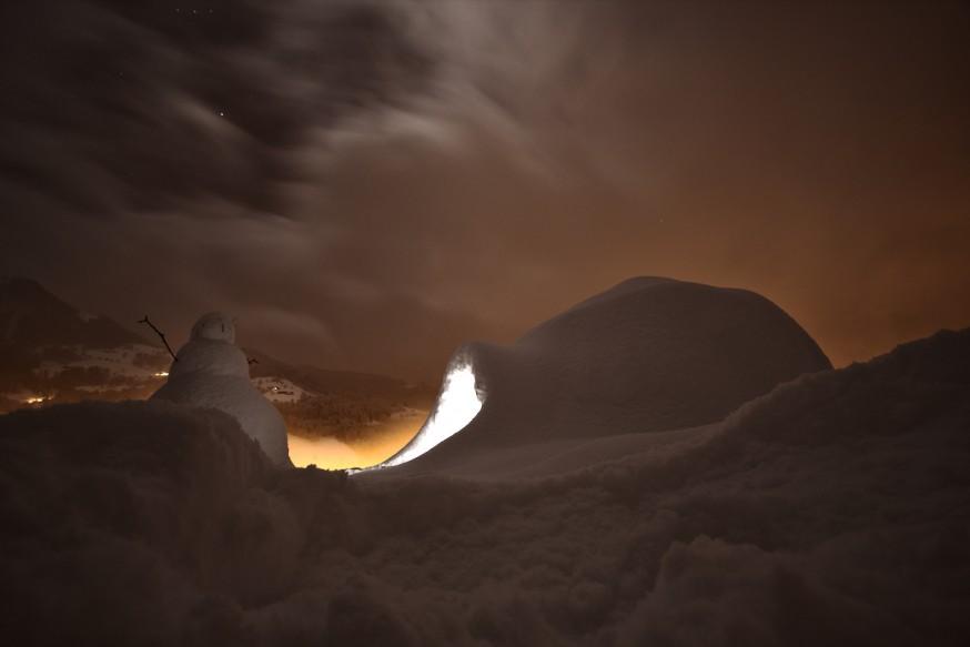 Igloo de nuit Manigod
