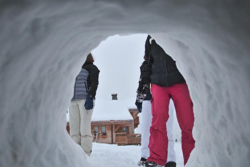 Vue depuis l interieur de l igloo Manigod