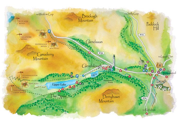Carte de Glendalough