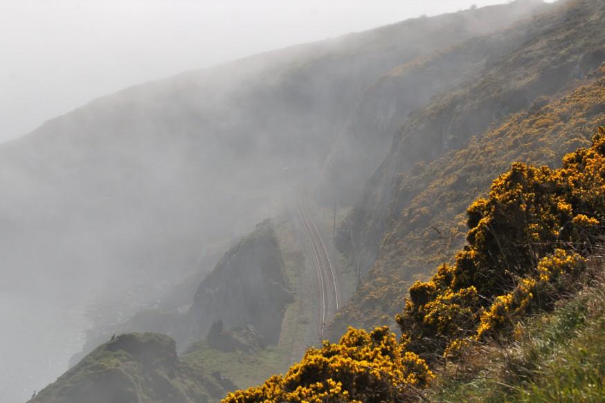 Dans la brume - Falaises de Bray