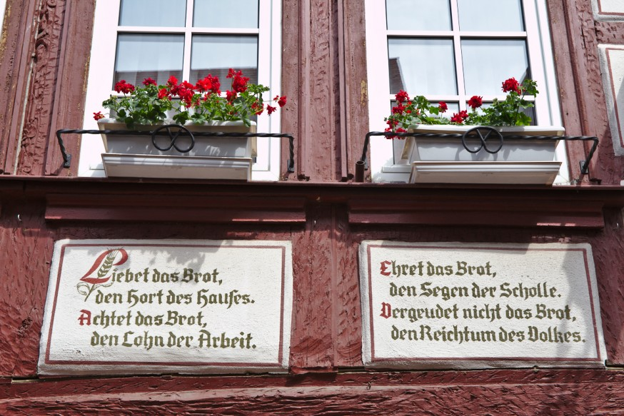 Colombages et poeme - Miltenberg