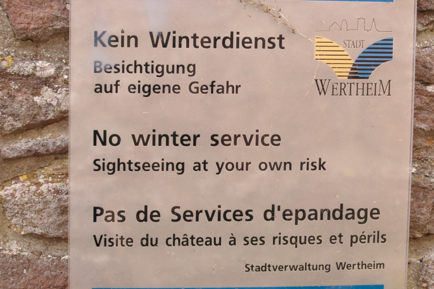 Probleme de traduction - chateau - Wertheim
