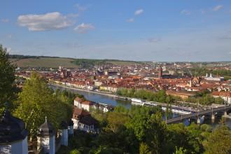 Vue sur Würzburg depuis la Käppelle