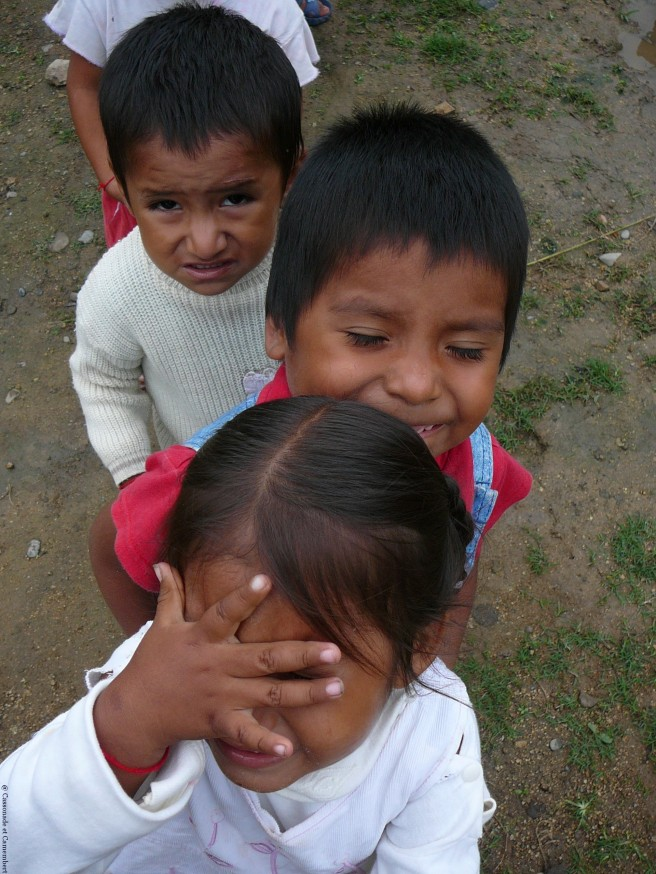 En file indienne  - Volontariat Selva Inka Pilcopata