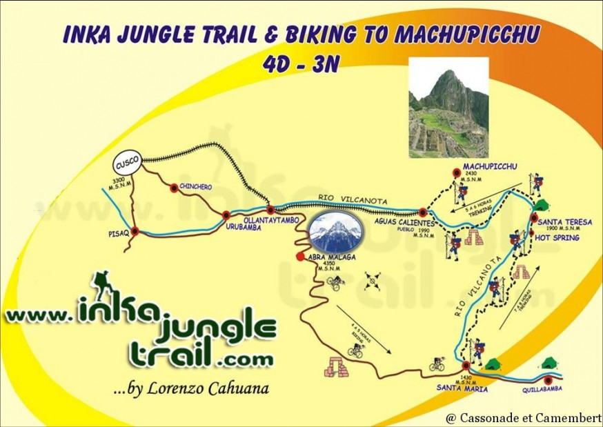 Itineraire de l inca jungle trail