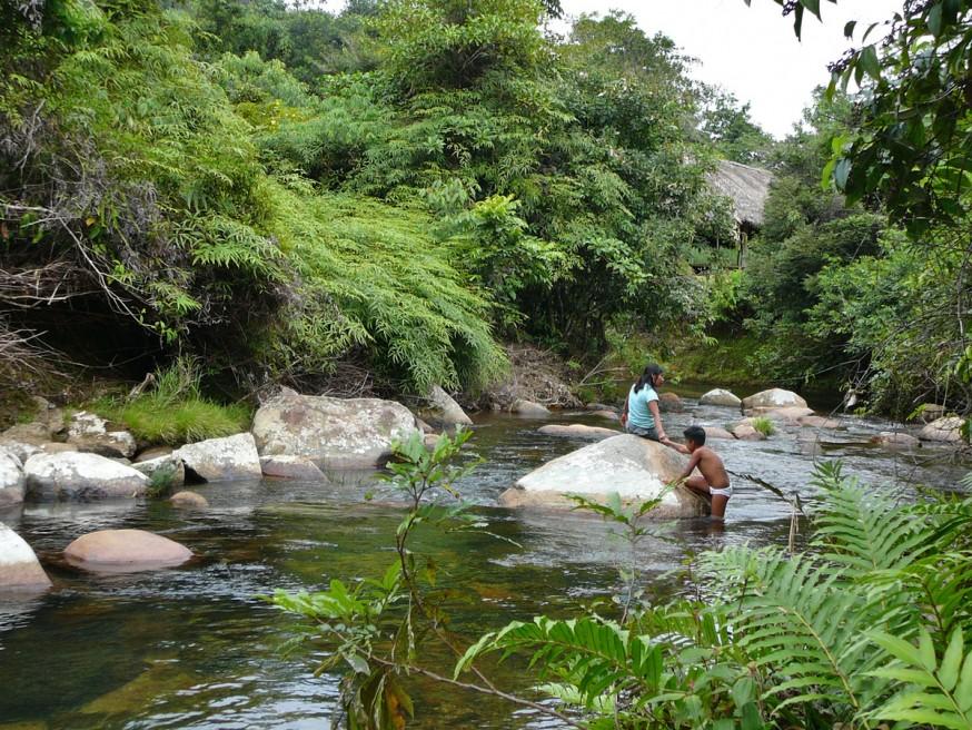 Comunidad nativa de Huacaria - Baignade