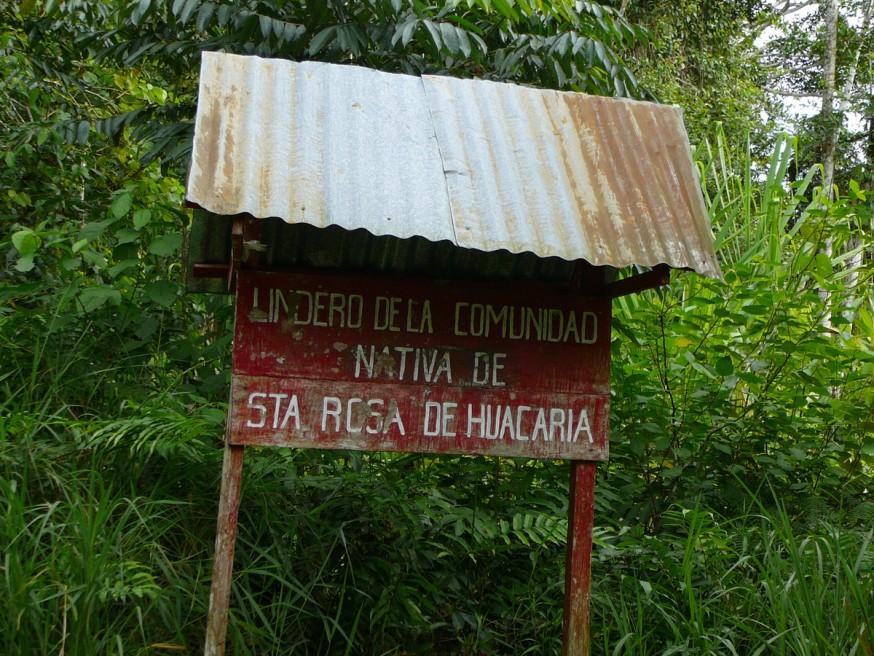 Comunidad nativa de Huacaria - Entree