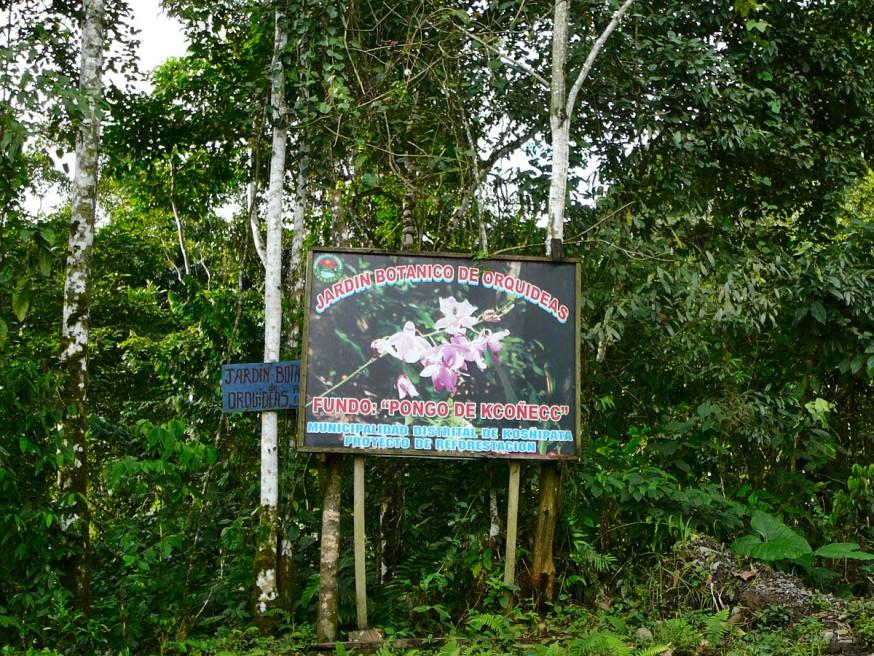 Entree jardin botanique orchidees Atalaya