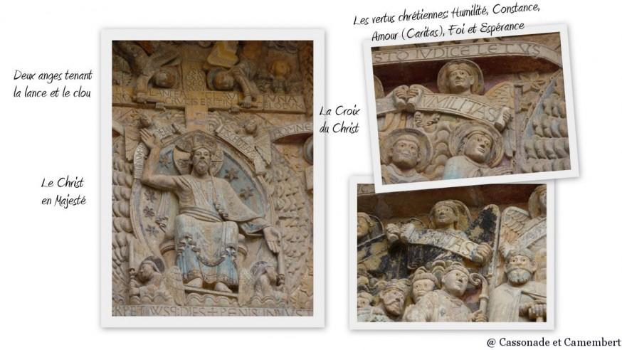 Compostelle Conques - Tympan Conques Christ Mandorle