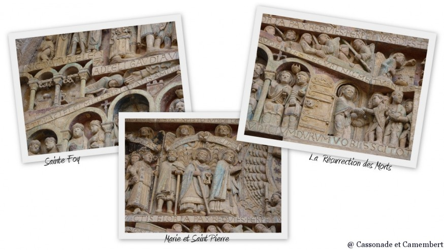 Compostelle Conques - Tympan Conques Ste Foy