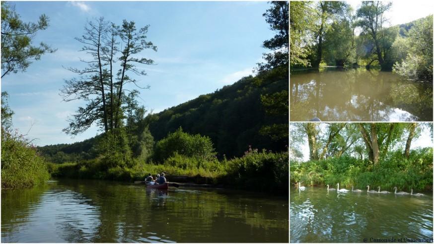 En canoe sur la Fränkischen Saale