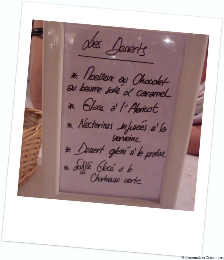 Desserts bouchon des filles Lyon