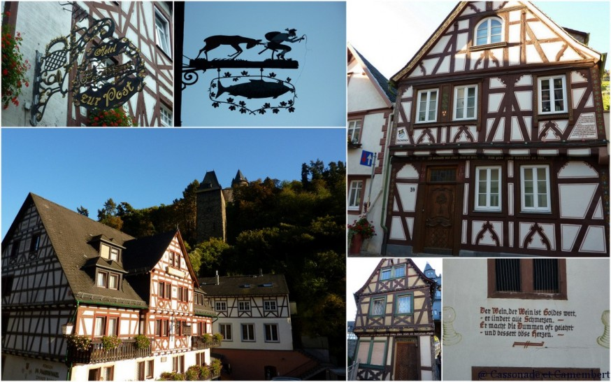 Bacharach inscriptions facades