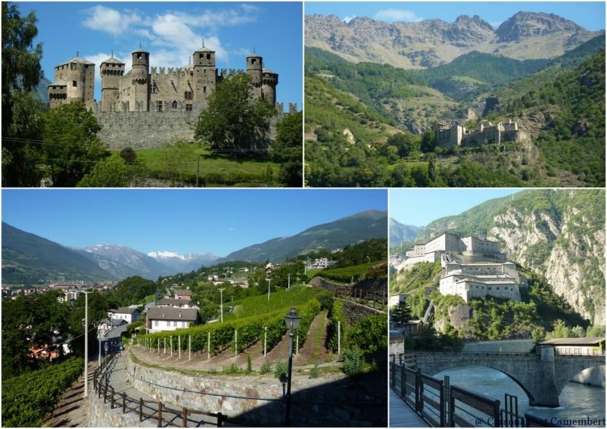 Chateau de Fenis et Fort de Bard