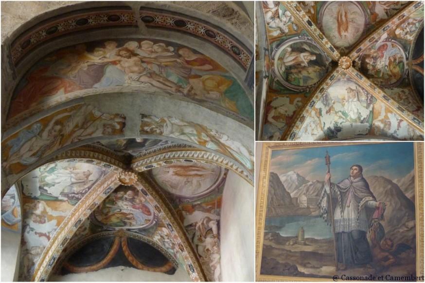 Fresques de la cathedrale d'Aoste