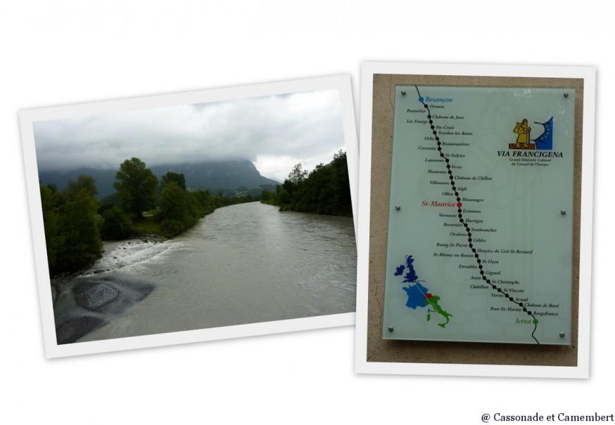 Traversee du Rhone Via Francigena