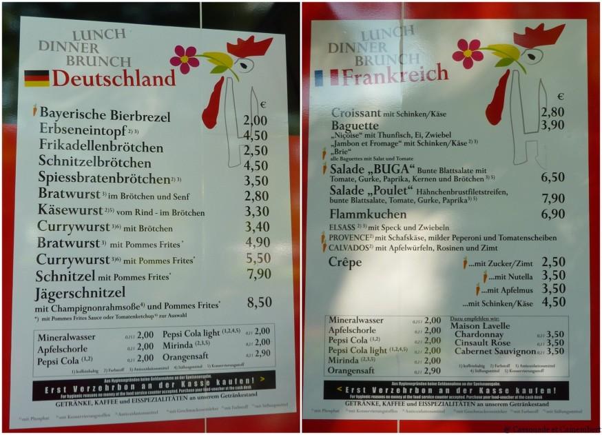 Clichés gastronomiques BUGA Koblenz