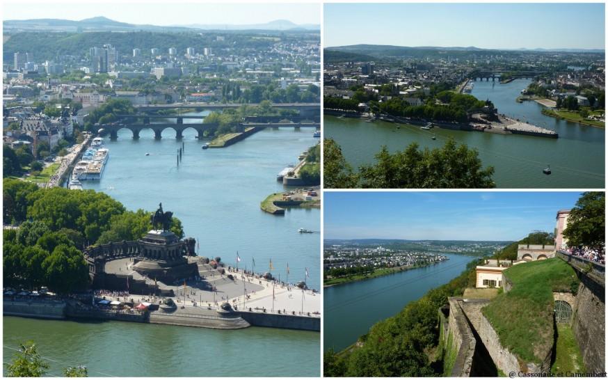 Vue Deutsches Eck Koblenz