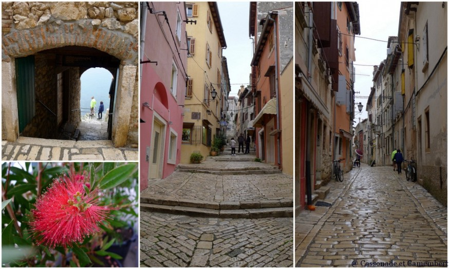 Les ruelles de Rovinj en Istrie