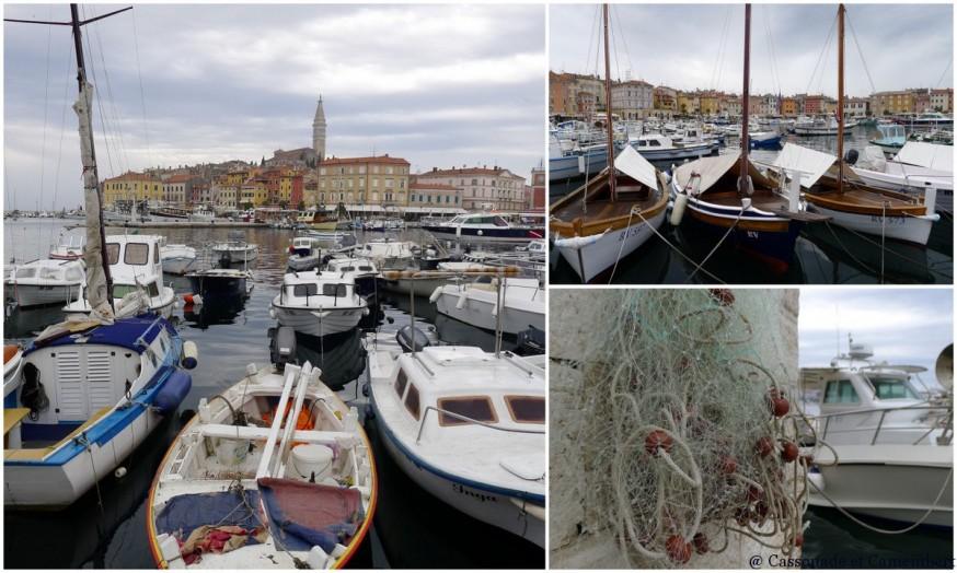 Le port de Rovinj en Istrie