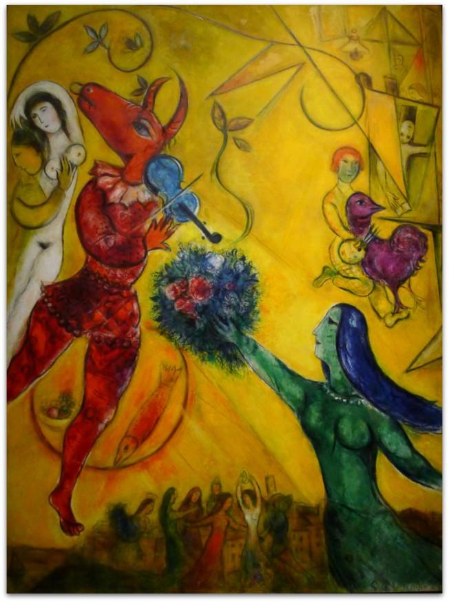 Chagall musée du luxembourg - La Danse