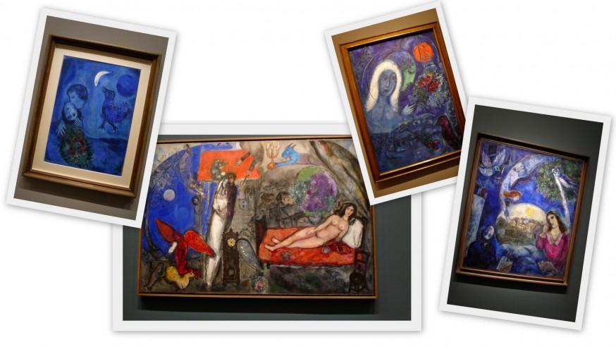 Peintures bleues chagall musée du luxembourg