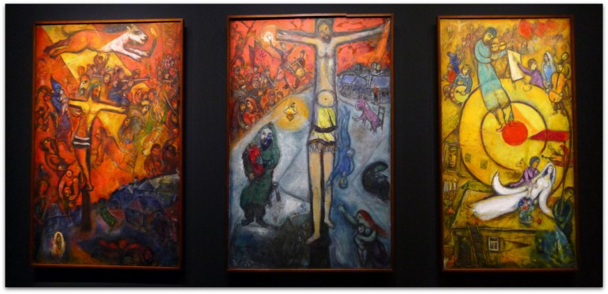 Chagall musée du luxembourg - tryptique resistance ressurection liberation