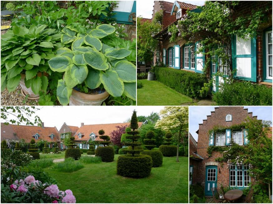 Le jardin aux buis de la ferme du mont des recollets cassonade et camembert - Les jardins des monts d or ...