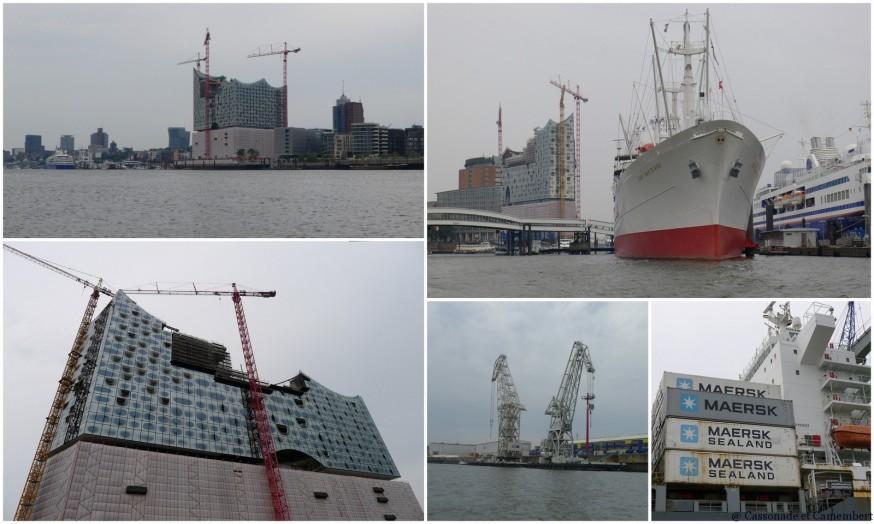 Visite du port de Hambourg