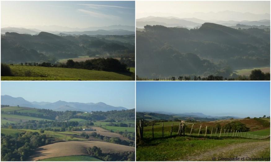 vue sur pyrenees  - compostelle pays basque