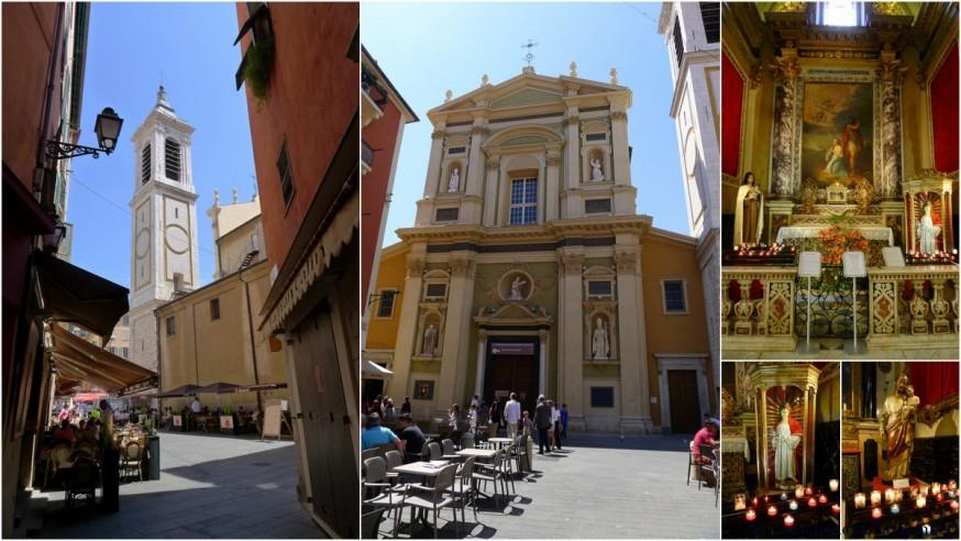 La cathédrale Sainte-Réparate dans le Vieux-Nice