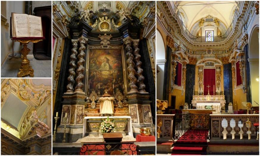 L'intérieur de la cathédrale Sainte-Réparate dans le Vieux-Nice