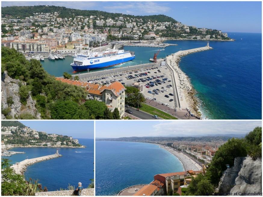 La vue depuis la colline du chateau à Nice