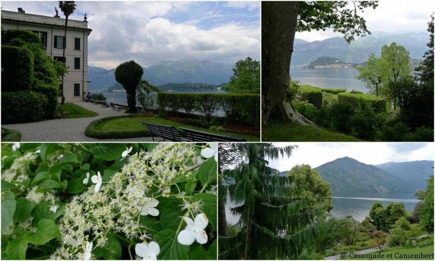 Le vieux jardin de la villa Carlotta sur le lac de Côme