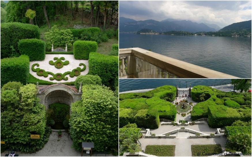 La vue depuis les balcons de la villa Carlotta sur le lac de Côme