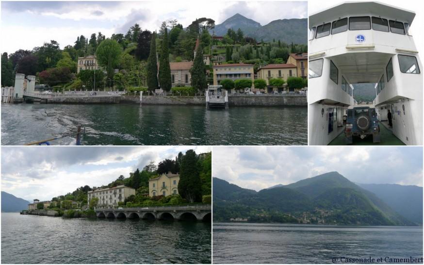 Le ferry vers Bellagio, au départ de la villa Carlotta sur le lac de Côme