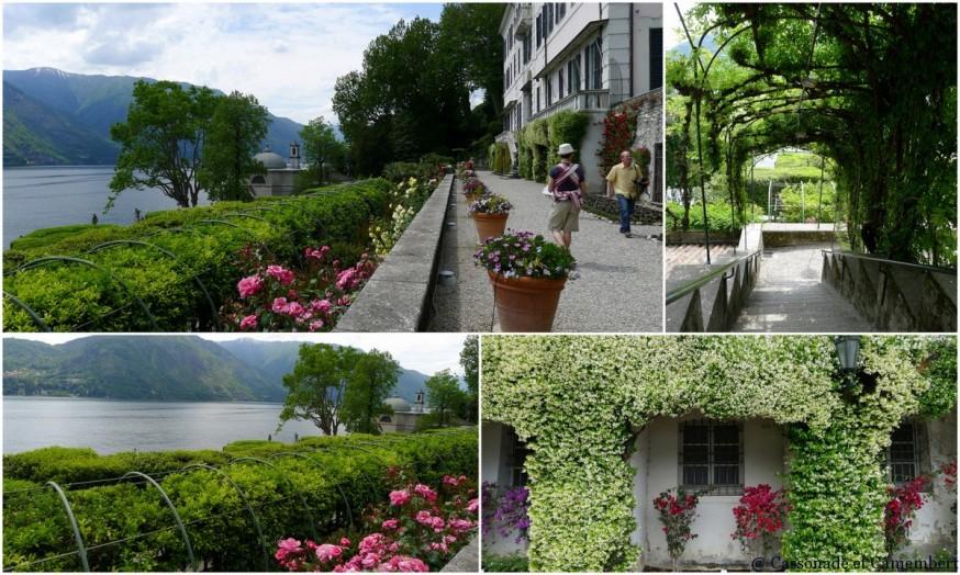 Le jardin à l'italienne de la villa Carlotta sur le lac de Côme