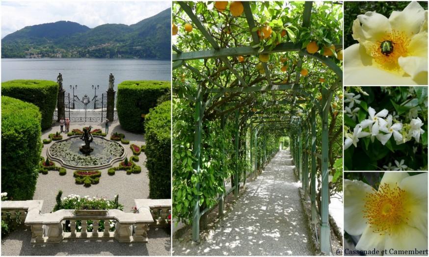 La pergola d'agrumes de la villa Carlotta sur le lac de Côme